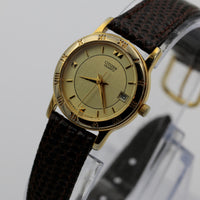 Citizen Ladies Quartz Gold Calendar Watch w/ Strap