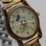 Disney Mickey Mouse Gold Quartz Watch w/ Bracelet