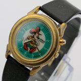 Seiko / Lorus Mickey Mouse Indiglo Light Quartz Gold Watch w/ Strap
