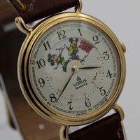 Seiko / Lorus Mickey Mouse Wizard Moonphase Gold Quartz Watch w/ Strap