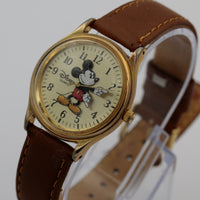 Miyota by Citizen Mickey Mouse Disney Gold Quartz Watch w/ Strap