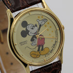 Seiko Mickey Mouse Men's Stardust Gold Quartz Watch w/ Strap