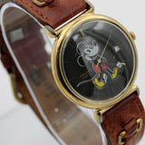 Seiko / Pulsar Mickey Mouse Men's Calendar Gold Quartz Watch w/ Strap