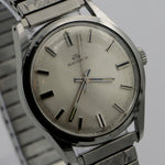 1960s Bucherer Men's Silver Swiss Made 21Jwl Watch w/ Box