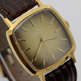 1980 Waltham Men's 17Jwl Gold Interesting Dial and Case Watch w/ Strap
