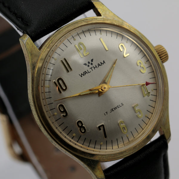 1960s Waltham Men's 17Jwl Gold Fully Signed Watch w/ Strap