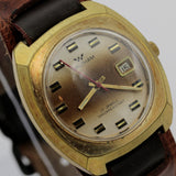 Waltham Men's 17Jwl Gold Calendar Interesting Dial and Case Watch w/ Strap