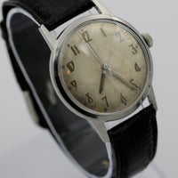 Elgin Men's Silver Swiss Made 25Jwl Automatic Three Times Signed Watch w/ Strap
