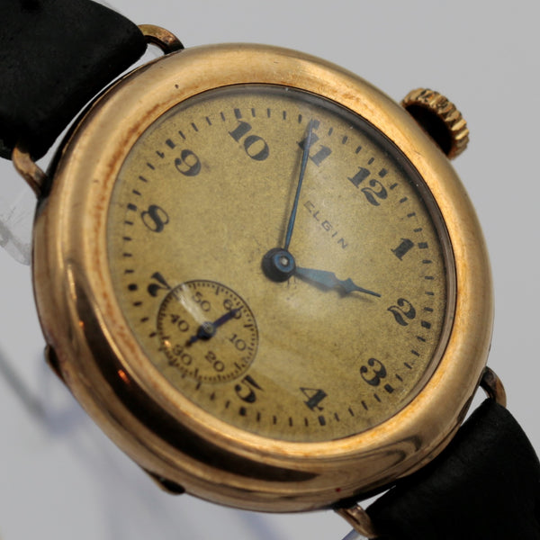 1921 Elgin Gold Watch - Excellent Shape - Very Unique and Rare