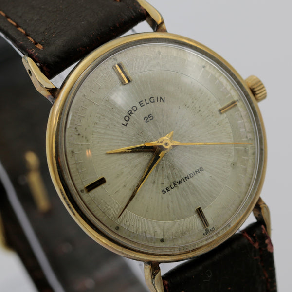 1950s Lord Elgin Men's Swiss 25Jwl Automatic 10K Gold Watch
