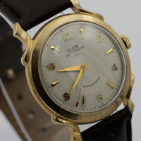 1950s Elgin Men's Swiss 10K Gold 17Jwl Automatic Fancy Lugs Watch