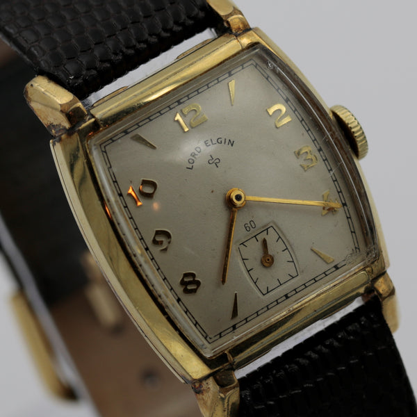 1947 Lord Elgin Men's 14K Gold 21Jewels 4Adj Watch