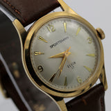 Elgin Men's Gold 17Jwl Clean Dial Watch w/ Strap