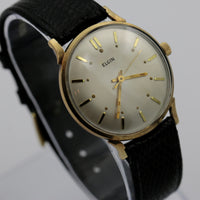 1951 Elgin Men's Made in USA Gold 19Jwl Watch - Almost Mint w/ Swiss Made Strap