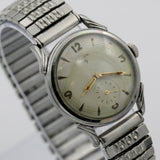 1940s Elgin Men's 17Jwl Made in USA Silver Watch w/ Bracelet