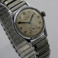 1950s Elgin Men's Silver Swiss Made Watch w/ Bracelet