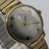 1960s Elgin Men's 10K Gold 17Jwl Automatic Quadrant Dial Watch w/ Bracelet