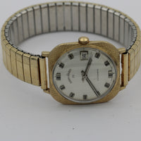 1950s Lord Elgin Men's 25Jwl Automatic 10K Gold Calendar Swiss Made Watch