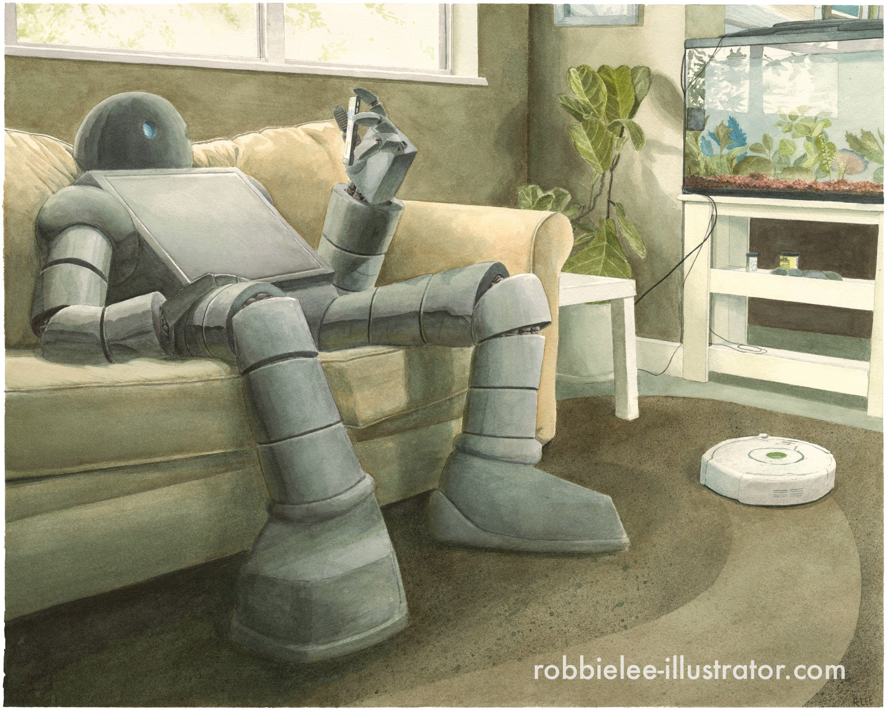 A Robot Vacuuming