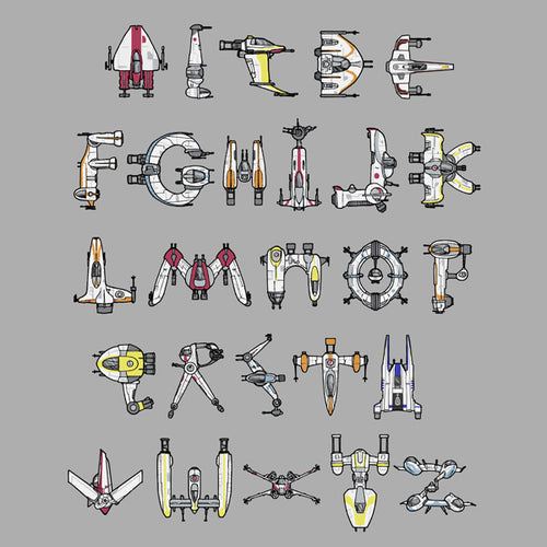 Star Wars Starfighters Alphabet