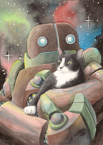 Robot with Cat #1