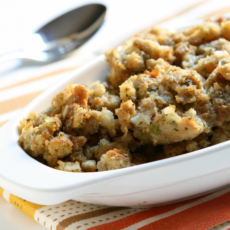 Homemade Stuffing with Alwan's Country Sausage