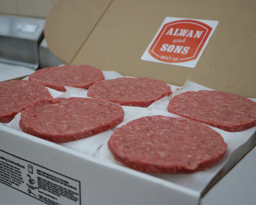 60 Count Box Of Burgers (4oz Patties)