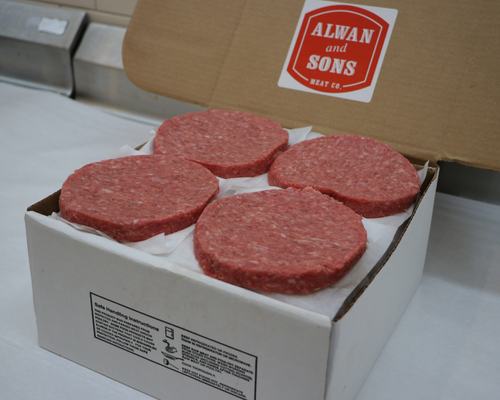 32 Count Box Of Burgers (7oz Patties)