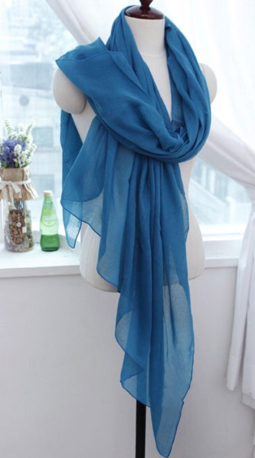 Solid Viscose Scarves