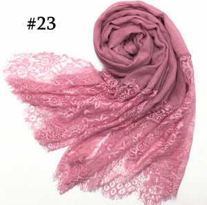 Luxury Extra Long Cotton Lace Scarves