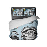 TEEN AND KID BASS FISHING COMFORTER AND PILLOWCASES FROM KIDS BEDDING COMPANY