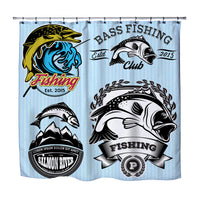 Bass Fishing Shower Curtain from Kids Bedding Company