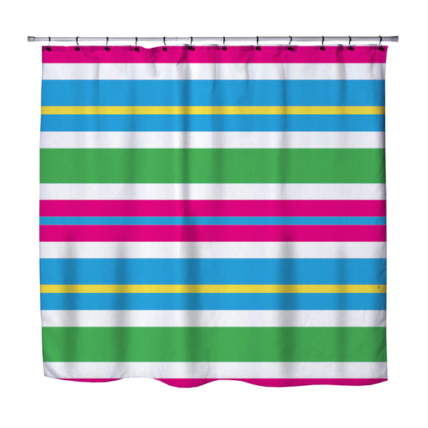 Beach Stripes Shower Curtain from Kids Bedding Company