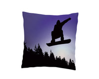 KIDS SNOWBOARD THROW PILLOW COVER