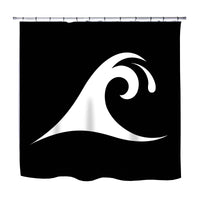 EPIC WAVE SURF SHOWER CURTAIN