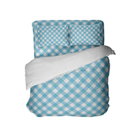 Preppy Blue Gingham Comforter Set from Kids Bedding Company