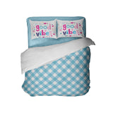 Good Vibes Preppy Blue Gingham Comforter Set from Kids Bedding Company