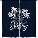 SURFING SURFBOARDS SURF WINDOW CURTAINS