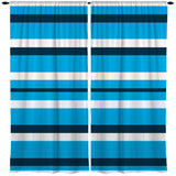 BLUE AND WHITE BEACH STRIPE WINDOW CURTAINS FROM KIDS BEDDING COMPANY