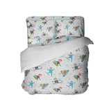 Cute Kids Snowboard and Ski Comforter and Sheet Set from Kids Bedding Company