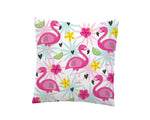 TROPICAL FLAMINGOS THROW PILLOW COVER