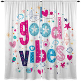 GOOD VIBES WINDOW CURTAINS FROM KIDS BEDDING COMPANY