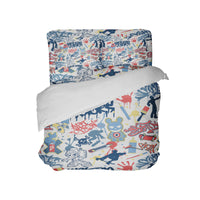 KIDS SKATEBOARD GRAFFITI DUVET COVER FROM KIDS BEDDING COMPANY
