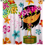 HULA GIRL HAWAIIAN STYLE CURTAINS