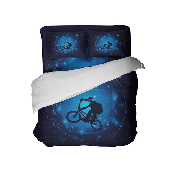 KIDS BMX COMFORTER SHOWN WITH BMX SHEET SET AND PILLOWCASES