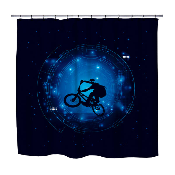 KIDS BMX SHOWER CURTAIN