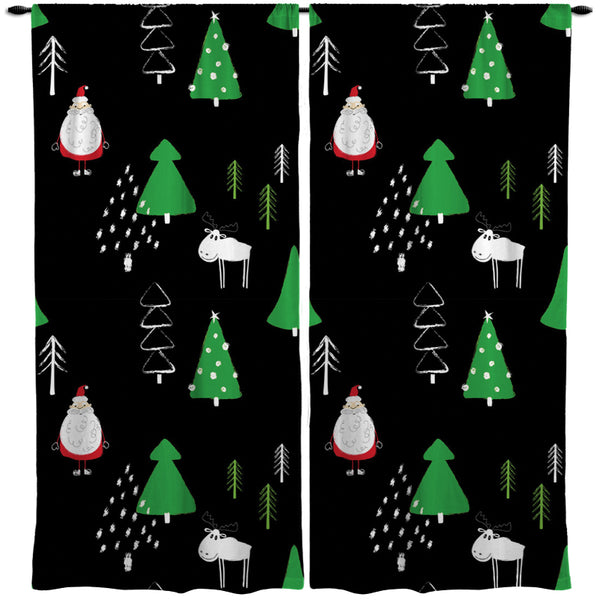 CHRISTMAS WINDOW CURTAINS FROM KIDS BEDDING COMPANY