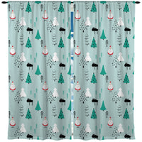 Woodlands Santa Christmas Window Curtains from Kids Bedding Company