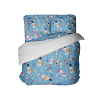 SNOWMAN COMFORTER AND SHEET SET FROM KIDS BEDDING COMPANY