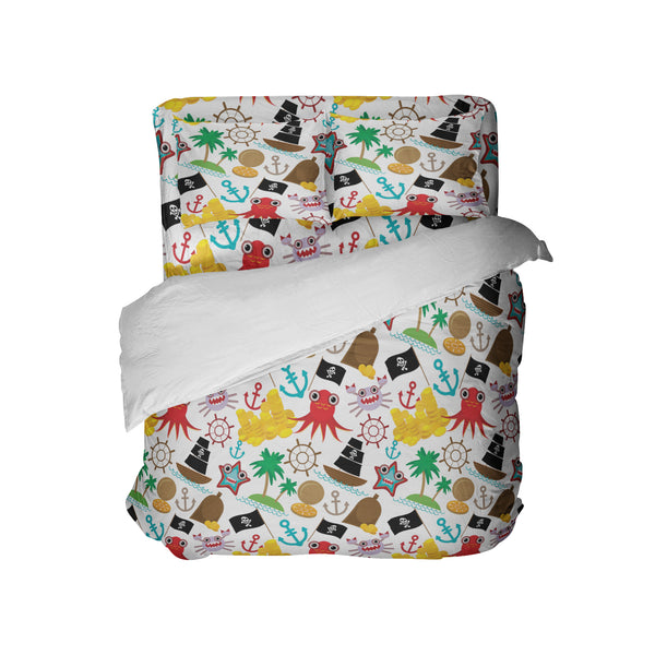 KIDS PIRATE SHIP COMFORTER SET FROM KIDS BEDDING COMPANY